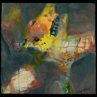 """Abstract Painting, Contemporary Art for Sale, """"Under The Sea"""" by Contemporary Artist Tracy Lupanow"""