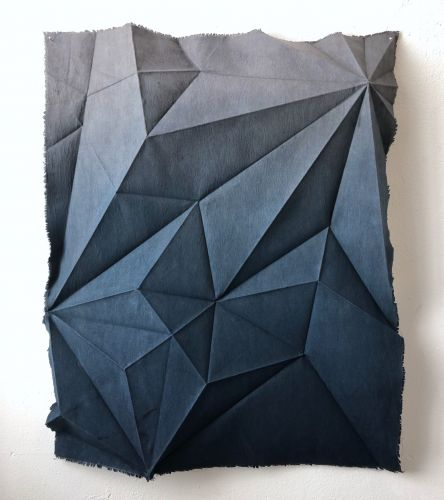 Using Naturally Dyed Cotton, Artist Sipho Mabona Explores Transformation through Origami