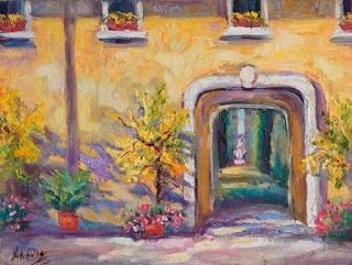 "New ""Amarillo"" Tuscan Garden Painting by Niki Gulley"