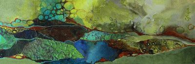 "Geologic Abstract Print ""Primordial Soup"" © Carol Nelson Fine Art"