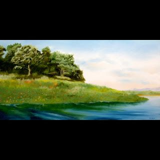 Mark Webster - Folsom Lake in the Spring Oil Painting