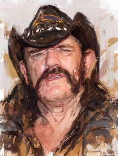 Sketch painting of Lemmy!