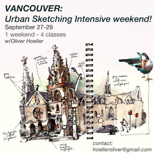 USk Workshop: Urban Sketching Workshop in Vancouver!