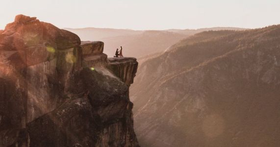 Photographer Searching for Couple in His Epic Yosemite Engagement Photo