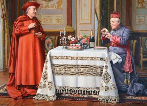 Marcel Brunery: Cardinals and Tablecloths