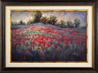 """New """"Red Carpet Ride"""" Texas Wildflower Painting by Niki Gulley"""