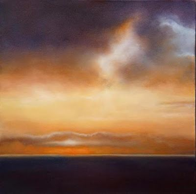 """Abstract Landscape Painting, Sunset """" Primary Sunset"""