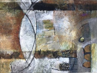 """Contemporary Art, Abstract Painting, Expressionism, Mixed Media """"The Long Road"""" by Contemporary Artist Liz Thoresen"""