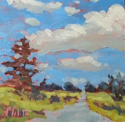 August Serenade Contemporary Impressionism Oil Painting