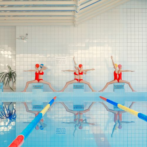 New Synchronized Photographs of Swimmers by Mária Švarbová