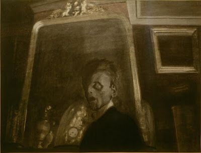 Léon Spilliaert, Self-portrait with Mirror
