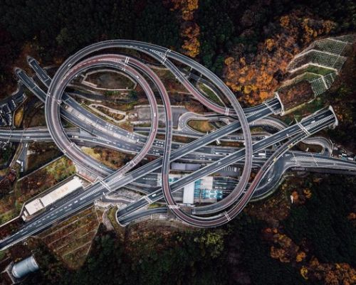 In Transit: Large-Scale Road Infrastructures Seen from Above