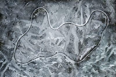 "Nature Photography, Winter Landscape, ""Creek Ice"" by Colorado Photographer Kit Hedman, Boarding House Studio Galleries"