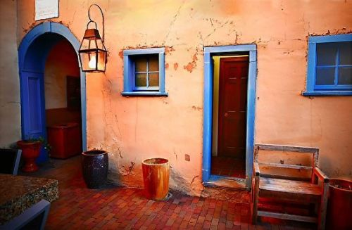 """New Mexico Architecture Fine Art Photography """"The Colors of Santa Fe"""" by International Photographer Kit Hedman"""