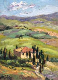 New Tuscany Painting by Contemporary Impressionist Niki Gulley