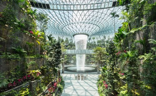 Collected Rainwater Powers the World's Tallest Indoor Waterfall at Singapore's Jewel Changi Airport