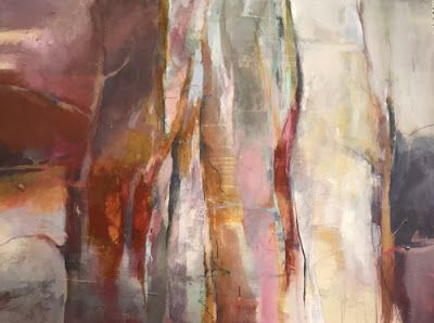 "Contemporary Abstract Landscape Painting ""Resilience"" by Intuitive Artist Joan Fullerton"
