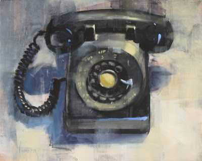 'Old dial up' 8in x 10in oil