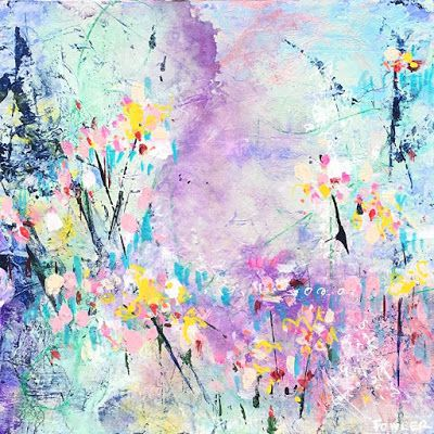 "Colorful Contemporary Abstract Expressionist Fine Art Painting ""COTTONCANDY"