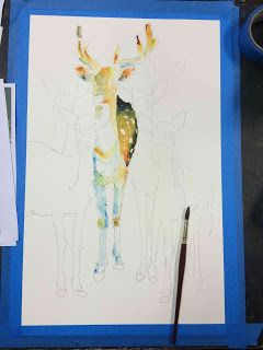 All mediums have a painting logic and ESPECIALLY WATERCOLOR