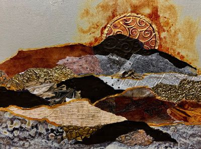 """Metals and Mixed Media Contemporary Abstract, """"Solar Flare"""" © Carol Nelson Fine Art"""