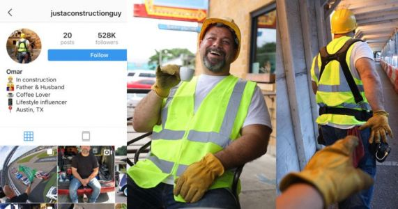 Construction Guy Instagram Influencer Turns Out to Be Coffee Ad Stunt