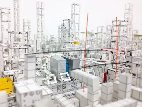 Katsumi Hayakawa's Congested Cities Are Constructed with Scrupulously Cut Paper Buildings