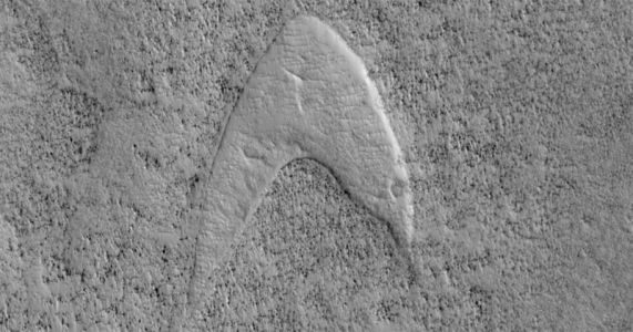 NASA Finds 'Star Trek' Starfleet Logo on Mars