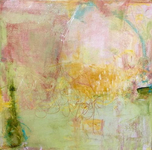"Contemporary Abstract Expressionist Painting ""SPRING OF SOPHOMORE YEAR"" by Abstract Artist Pamela Fowler Lordi"