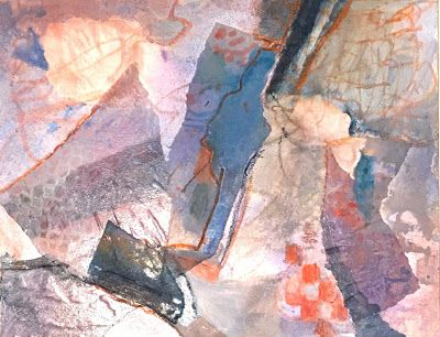 """Abstract Painting, Modern Art,Contemporary Art """"WE HAD A PICNIC"""" by Virginia Contemporary Artist Lou Jordan"""