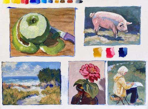 5 Acrylic Demos and Painting Progressions