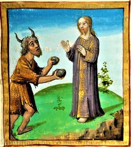Lent - Temptations in the Wilderness - Christ & Satan 16C