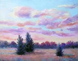 Easy Morning, New Contemporary Landscape Painting by Sheri Jones