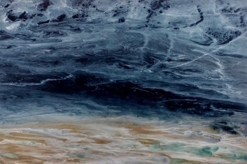 """Contemporary Seascape, Abstract Seascape, Coastal Living Decor, Fine Art , Stormy Sea, """"Electric Storm- Electric Storm Series"""" by International Contemporary Artist Kimberly Conrad"""