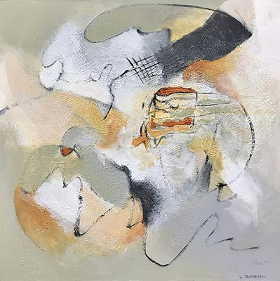 """Contemporary Art, Abstract Painting, Expressionism, Mixed Media """"IMPERMANENCE"""" by Contemporary Artist Liz Thoresen"""