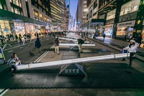 Playful Urban Design Intervention by Lateral Office Takes Over New York City's Garment District