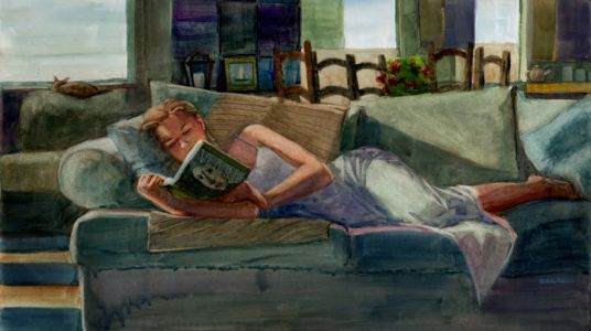 Figurative Watercolor Painting - Recharge - and Building Your Own Art Photo Reference Library