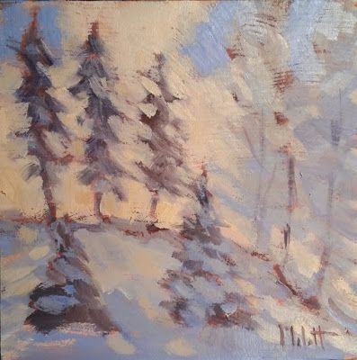December Morning Winter Landscape Buy One Painting get One Free Heidi Malott