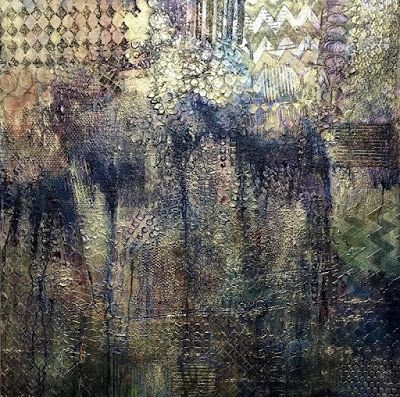 "Contemporary Art, Abstract Painting, Expressionism, Mixed Media, ""Uneven Ground"" by Portland Contemporary Artist Liz Thoresen"