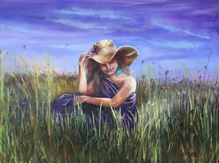 Beauty in Purple, by Melissa A. Torres, 30x40 oil on canvas