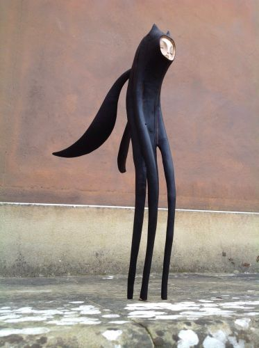 Long-Limbed Mythical Characters Carved from Hawthorn Wood by Tach Pollard