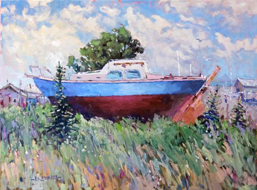 Land Locked Harbour 18in. x 24in. Oil / Canvas