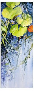 Lily Pond, Le Vieux Couvent..Watercolor..Texas Artist..Rae Andrews
