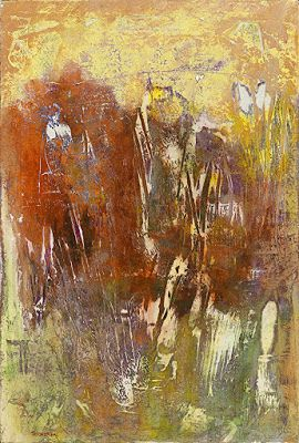 """Contemporary Art, Abstract Painting, Expressionism, Mixed Media """"PRIMORDIAL PERSEVERANCE I"""" by Contemporary Artist Liz Thoresen'"""