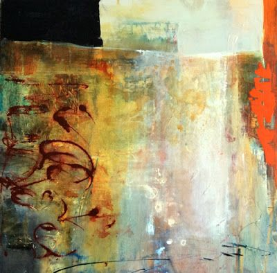 "Contemporary Abstract Painting ""Incidence at the Edges"" by Intuitive Artist Joan Fullerton"