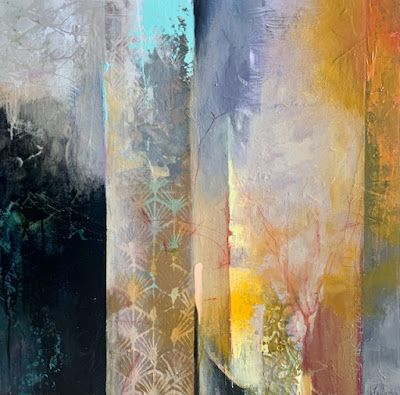 """Contemporary Landscape, Painting, Abstract Art """"EARLY MORNING"""" by Intuitive Artist Joan Fullerton"""