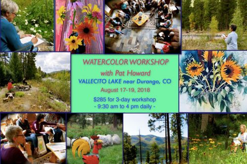 Upcoming WATERCOLOR WORKSHOP at Vallecito Lake