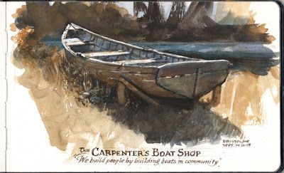 Painting a Cranberry Isle Skiff in Watercolor