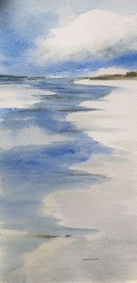 """Contemporary Beach Scene, """"Reflection,"""" by Amy Whitehouse"""