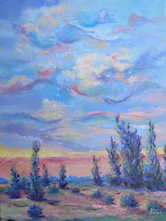 Breezy Day, New Contemporary Landscape Painting by Sheri Jones